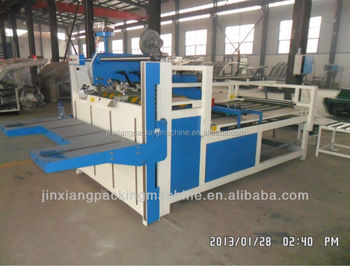 new type semi auto folder gluing machine