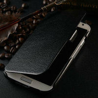 wholesale protective leather back cover for samsung i9500 brown leather case for samsung galaxy s4 ultra slim case for i9500