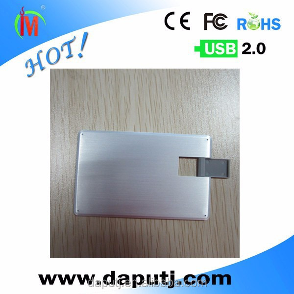 aluminium usb credit card with freely logo