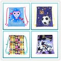 Wholesaler full color printing 210D polyester drawstring bag for kids