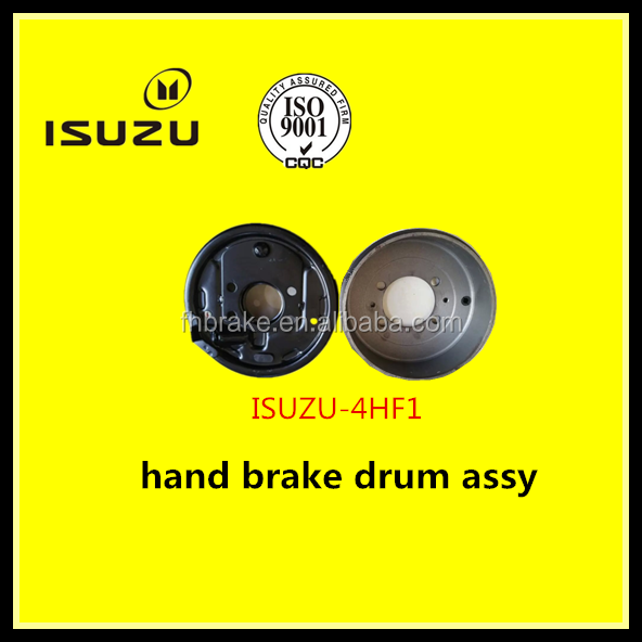 hand brake drum for ISUZU4HF1 truck auto Transmission parts with brake shoes