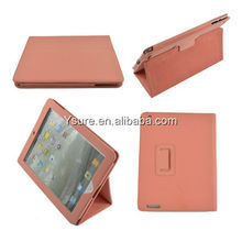 high quality pink velvet material leather stand cases stock new style for apple ipad/ipad2/ipad3/ipad4