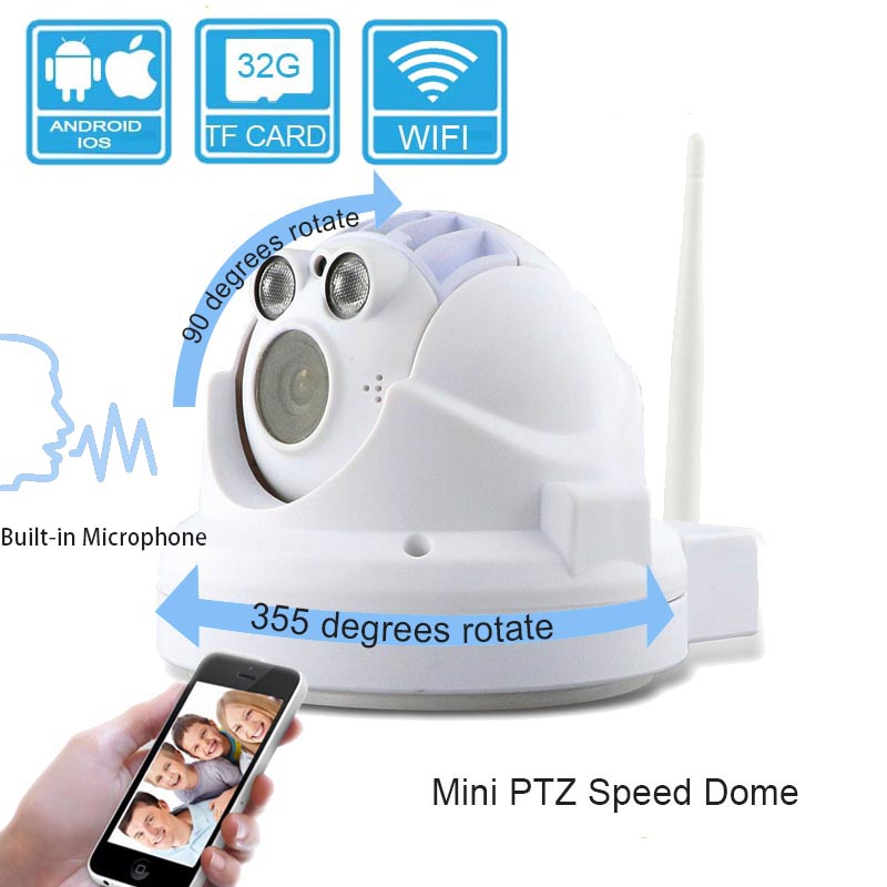 Indoor HD 720P surveillance p2p POE onvif ip speed dome camera