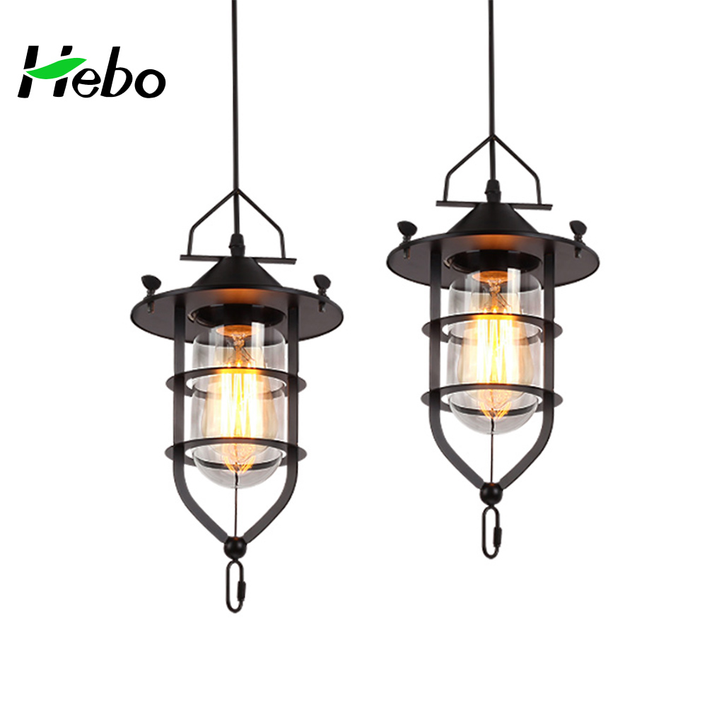 Outdoor antique cast iron pendant light