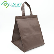 New coming portable wine cooler bag recycleable bag non woven whole food delivery insulated cooler bag for food