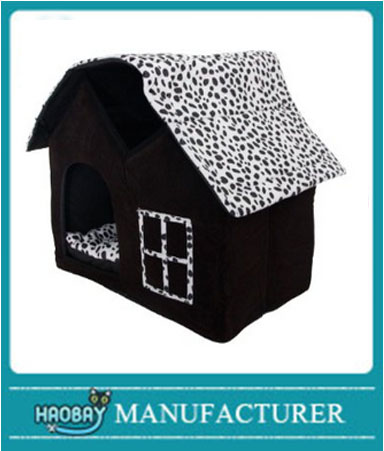 Pet house, Luxury High-end Double Pet House/black Dog Room Cat Bed