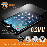 New arrival! 02.mm 2.5 D polishing edge technology tempered glass screen protector for ipad