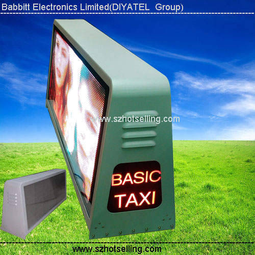 car dealer advertising P5 Taxi Top LED Sign (view size 960x320mm) taxi signs for sale