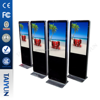 "Multimedia Narrow Bezel Tft 42""46""47""55"" Inches Multi Touch IR Sensor Touch Screen Self-service Terminal Kiosk"