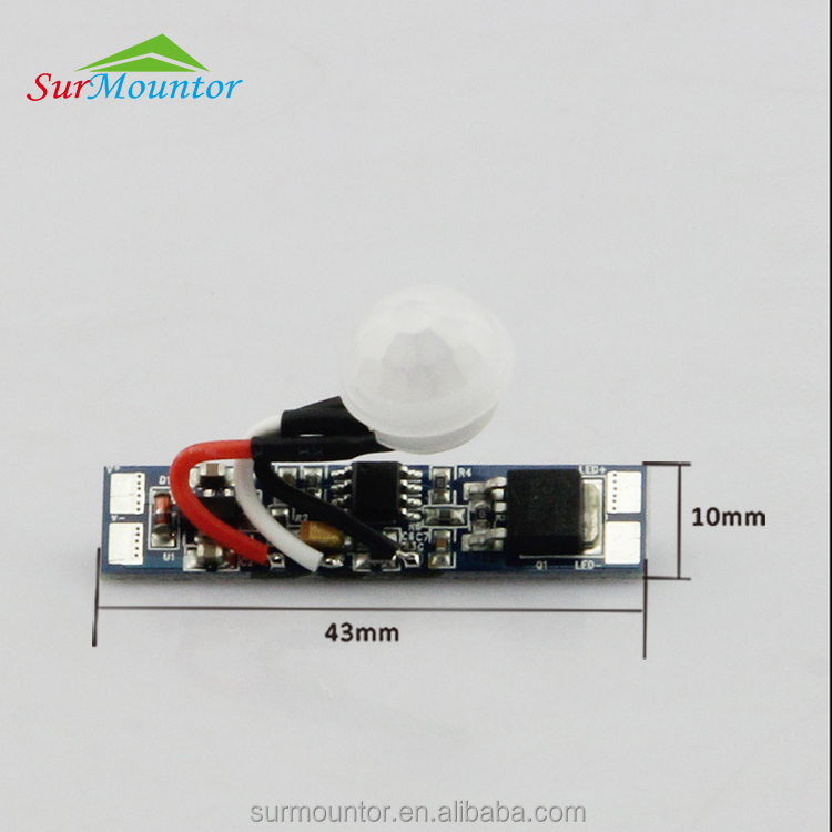 Smart automatic on/off 12v motion sensor switch for led ceiling light