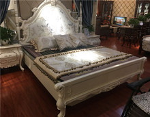 antique classic wood carved bed head french rococo double king size bed with storage