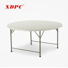 china modern white 8 10 12 seater wedding picnic garden outdoor plastic round folding dining tables set