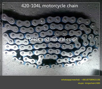 chinese motorcycle parts 4 punch natural color motorcycle wheel Chain 420