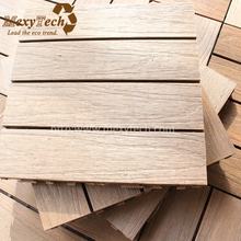 Anti-slip interlock DIY wpc wood composite deck tile