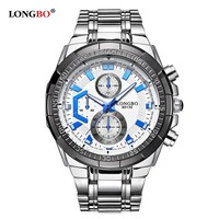 LongBo time force chronograph 5atm water resistant seikoing price watches wrist watch sport for men