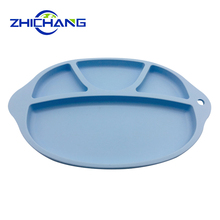 Hot sale non-slip silicone divided suction baby plate