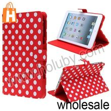 Light Weight Cute Polka Dots Pattern Folio Stand Magnetic Leather Case for iPadMini Multi Colors