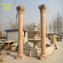 Outdoor External Wall Decorative marble stone Column For sale