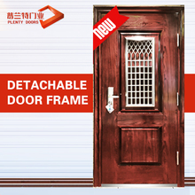 Used mini french double swing metal detector security garage dors exterior security louver steel door