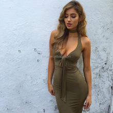 Wholesale price Summer Newest Apparel Designs 3 Colors Women Sexy Bandage Dresses