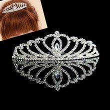 Children's lovely princess diamond crown and tiara High-end hair accessories wholesale