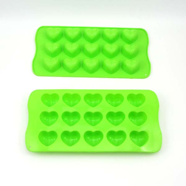 (SC050)Heart shape 15 holes non-toxic silicone chocolate mold