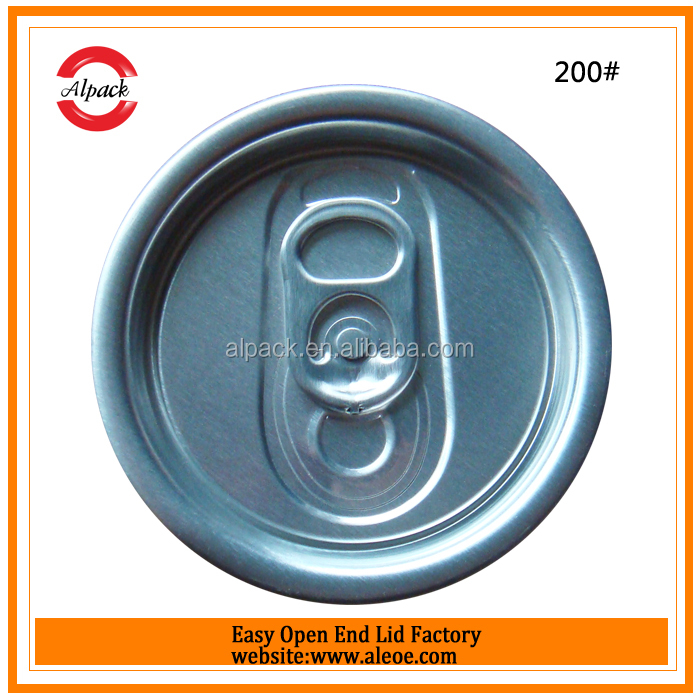 Non carbonated energy drink can easy open top end