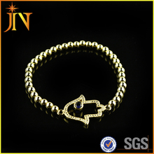 JN0003 New Hamsa Hand charms Bracelet,Pure Gold Color Casual Bracelet Jewelry