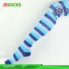 Fashion korea tights pantyhose with blue stripes