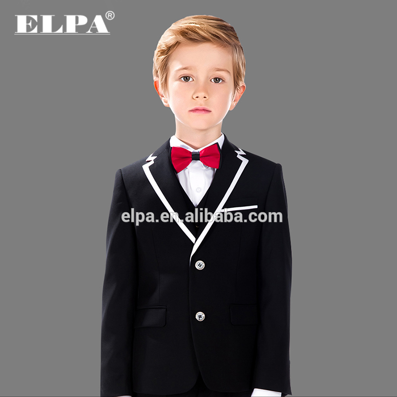 ELPA latest designer 3 piece kids fashion suits black boy school uniforms wholesale