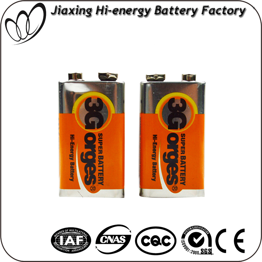 Hot Selling Dry Cell 9V 6F22 Zinc Chloride Battery OEM available