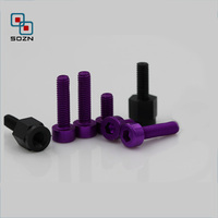 anodized aluminum Cylinder socket cap head machine screw