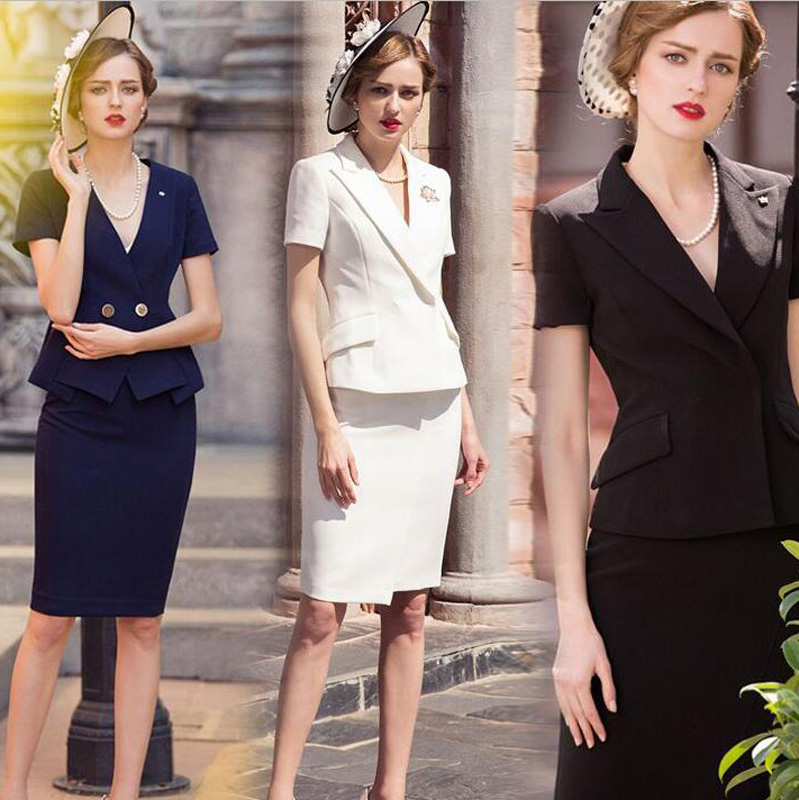 New Style Women Work Wear Jacket Formal Lady Casual Business Office Skirts Suit