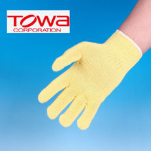 Cut resistant gloves made of Kevlar fiber for industrial use by Towa Corporation. Made in Japan (Kevlar diving gloves)