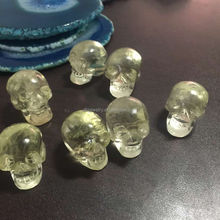 Whoelsale Newest handmade natural quartz l single crystal skull Necklace