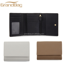 large capacity saffiano leather trifold wallet ladies purse