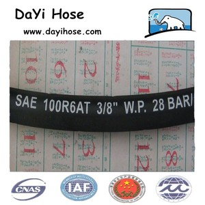 China Sae 100 R6 Black Air Hydraulic Hose And Hydraulic Rubber Hose