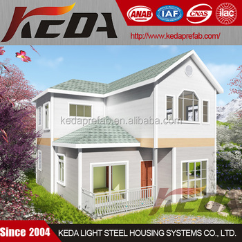 China Luxury Light Steel Villa Prefabricated House Residential Home
