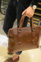 Linked Fashion factory supply Laptop Leather Bag Business Handbag Shoulder Travel Messenger Bag