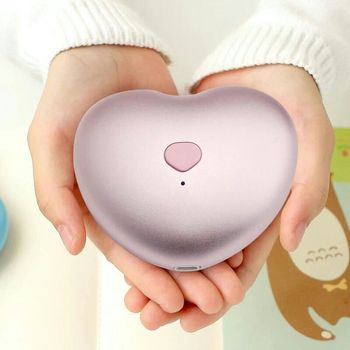 Unique Design Power Bank Lovely heart Hand Warmer for android phone