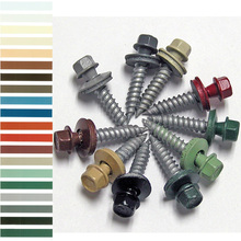 painted roofing screw hex washer head hex flange head self drilling /tapping screws