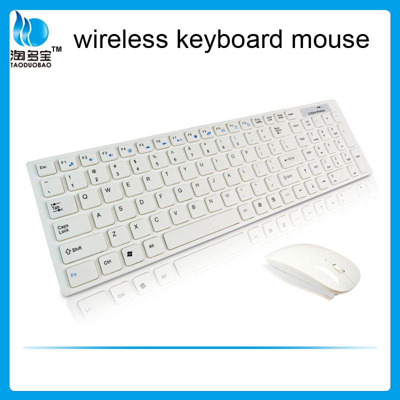 2.4Ghz ultra-thin wireless keyboard mouse combo for pc laptop