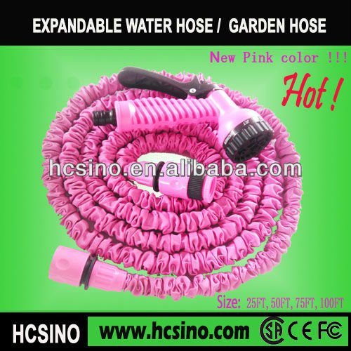 50 FT Expanding Garden Hose Pink Flexible Expandable Water Hose Hot New Color
