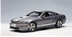 Model Car-AutoArt 1:18 scale diecast 2007 Ford Mustang GT Coupe (Appearance Package Option) - Tungsten Grey Metallic