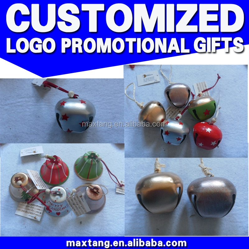Christmas wall hanging decorations small hanging metal bells for doors