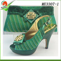 latest design 2016 new women shoes and bag italian shoe and bag set
