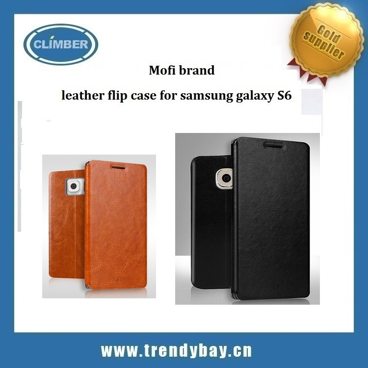 Mofi Wholesale case leather flip case for samsung galaxy S6