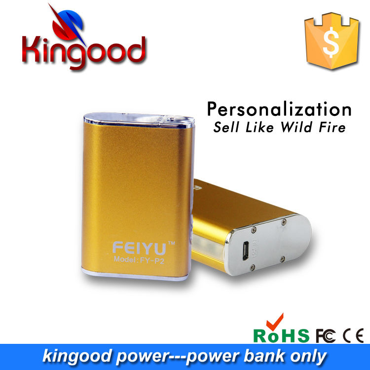 Best-selling products aluminium alloy power bank 5600mah aa small rechargeable battery