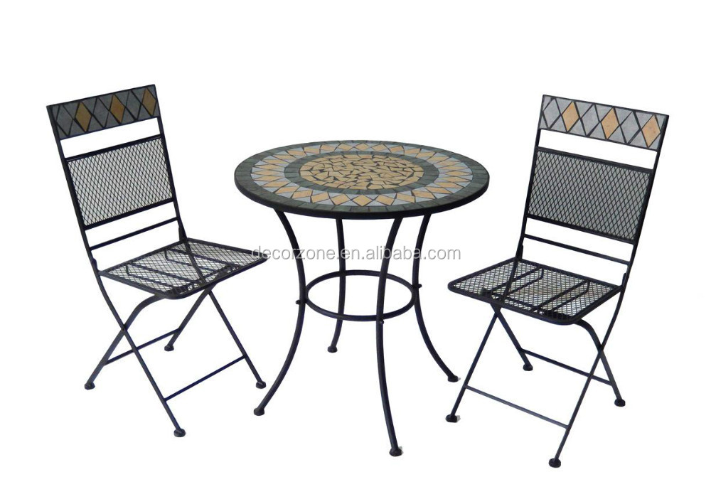 Folding Mosaic Bistro Table and Chair With Good Price