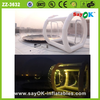 hot sale outdoor clear customized inflatable lawn camping bubble tent